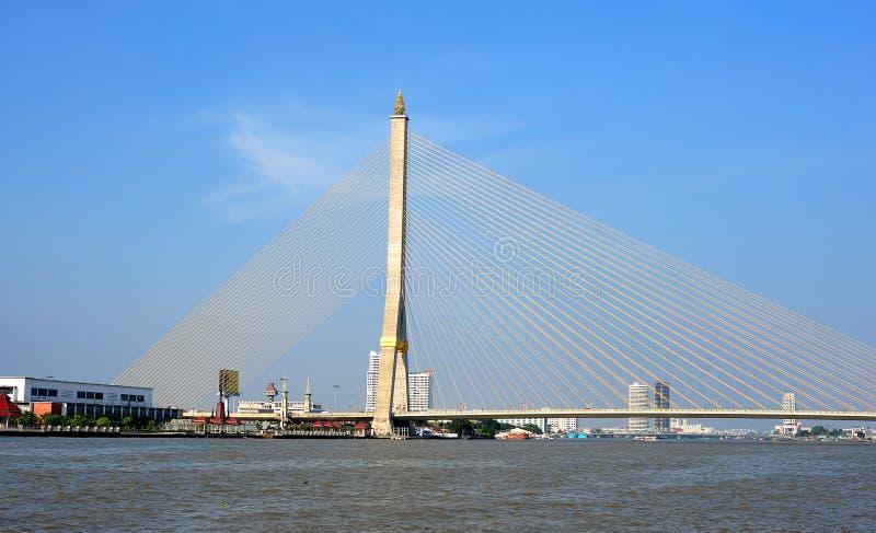 bangkok mosta ix rama zdjęcie stock