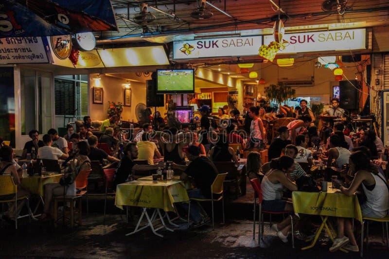 Bangkok nachts, 2013 lizenzfreie stockfotografie