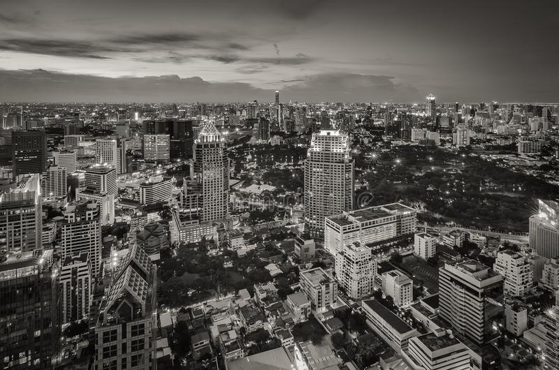 Bangkok-Nachtstadtbild lizenzfreie stockfotografie