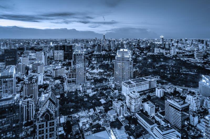 Bangkok-Nachtstadtbild stockbild