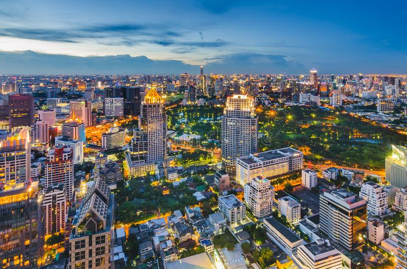 Bangkok-Nachtstadtbild stockfoto