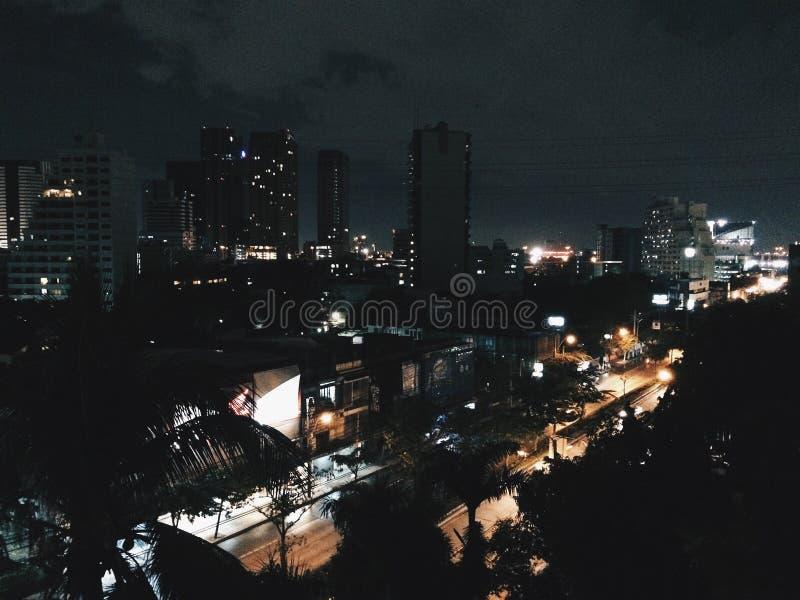 bangkok natt arkivbild