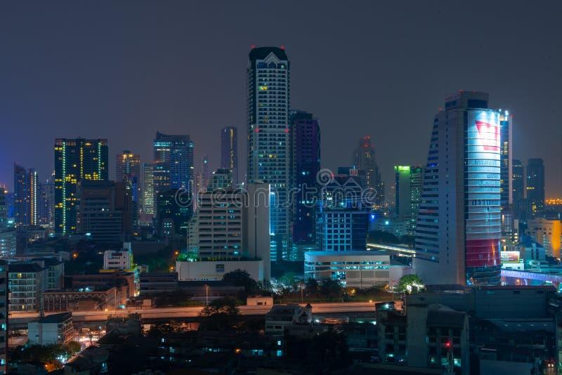 Bangkok natthorisont royaltyfria bilder