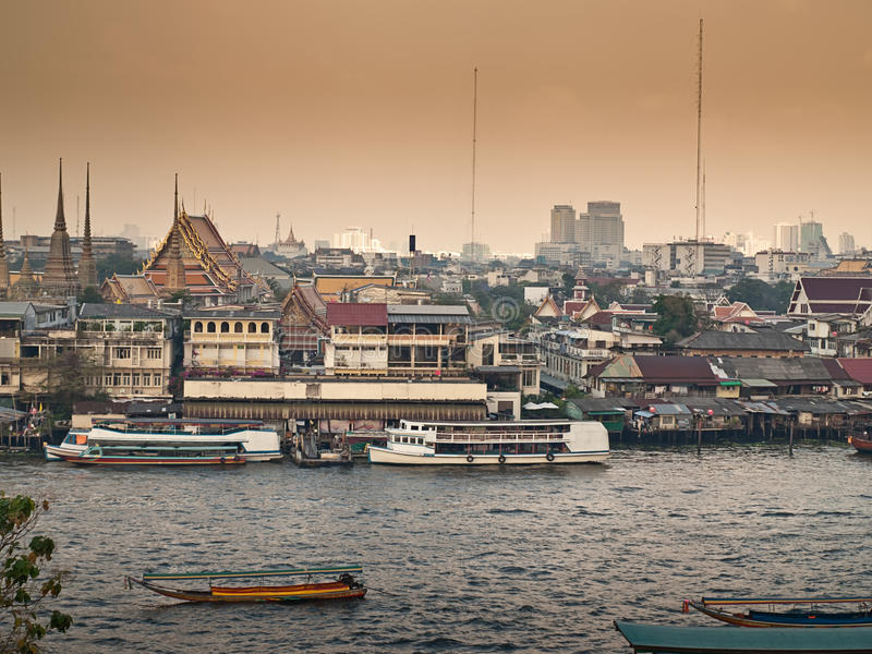 Bangkok Nebulosa Imagen de archivo