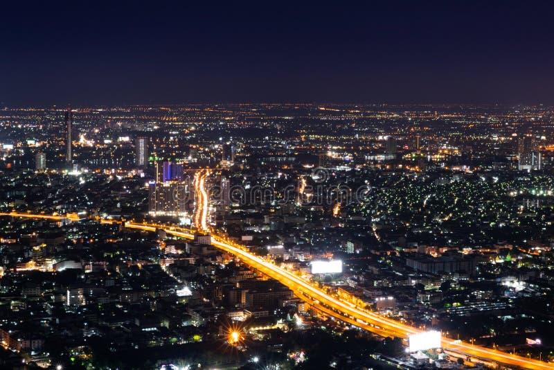 Bangkok night life, Bangkok cityscape stock photography
