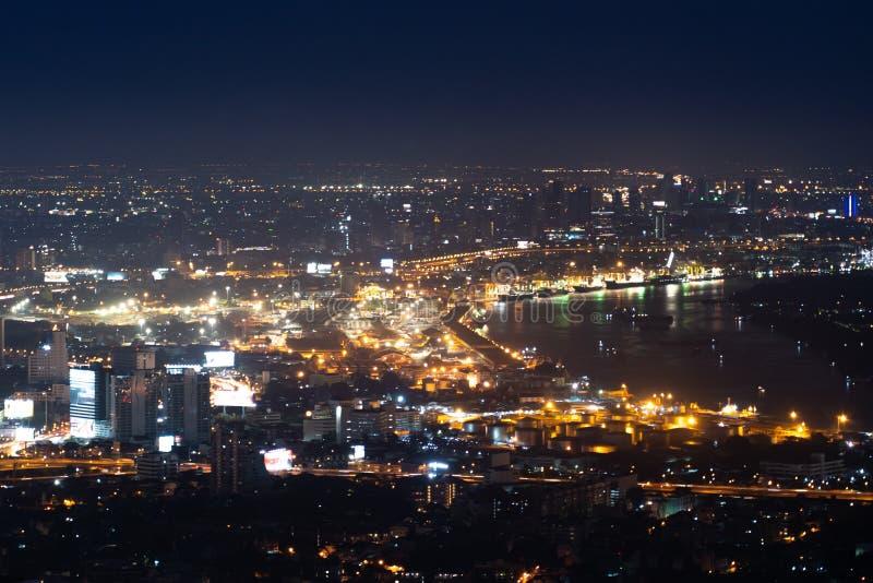 Bangkok night life, Bangkok cityscape royalty free stock images