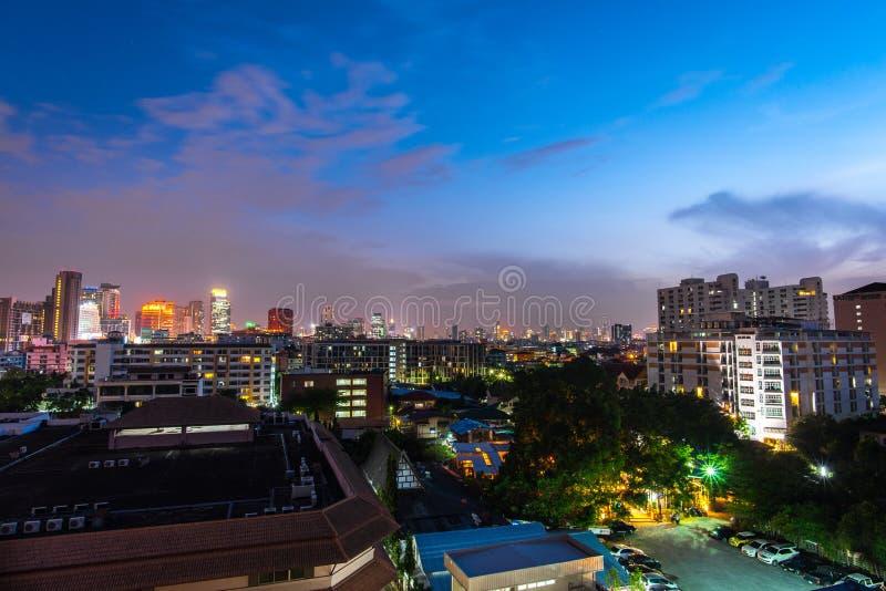 Bangkok-nightscape stockfotografie