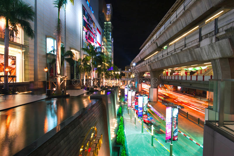 Bangkok noc iluminacja zdjęcia stock
