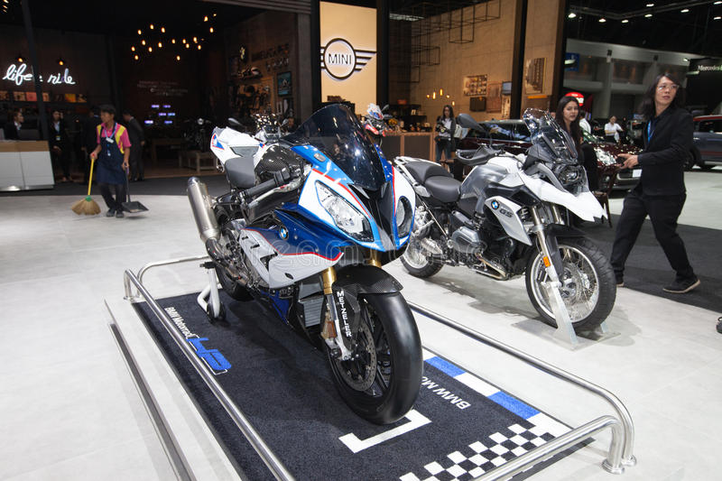 BANGKOK - November 30: BMW S1000 motorcycle on display at Motor. Expo 2016 on November 30, 2016 in Bangkok, Thailand stock image