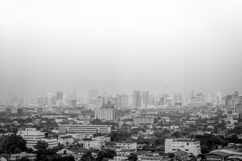 BANGKOK - OCT 29: Een mening over de stad van Bayok-Hemelhotel (b/w.p. stock afbeeldingen