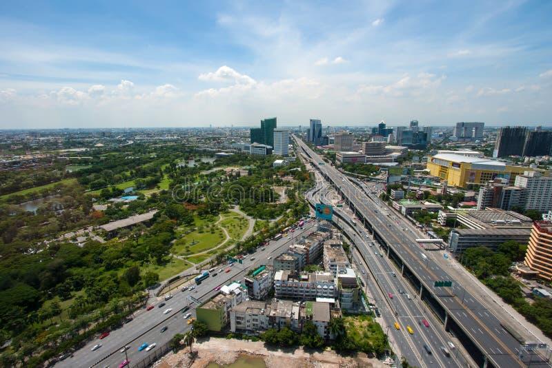 Bangkok panoramasikt, Thailand royaltyfri bild
