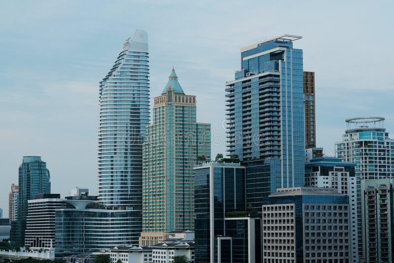 Bangkok pejzażu miejskiego tło obraz stock