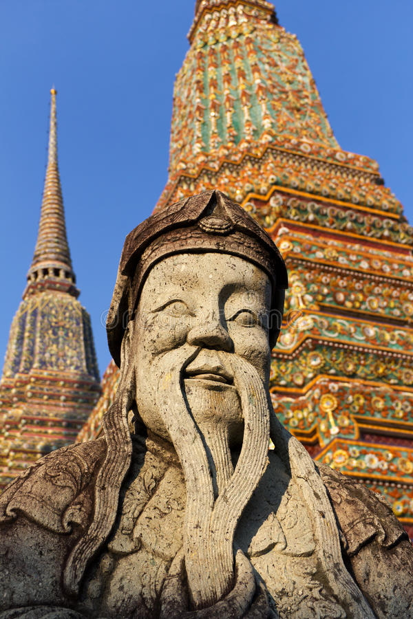bangkok pho statuy wat obrazy royalty free
