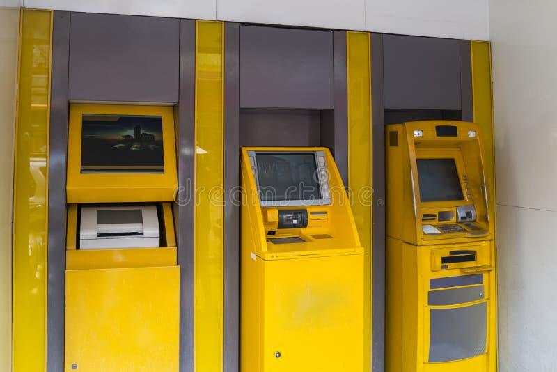 Bangkok. Real ATM on Bangkok street, Thailand royalty free stock photo