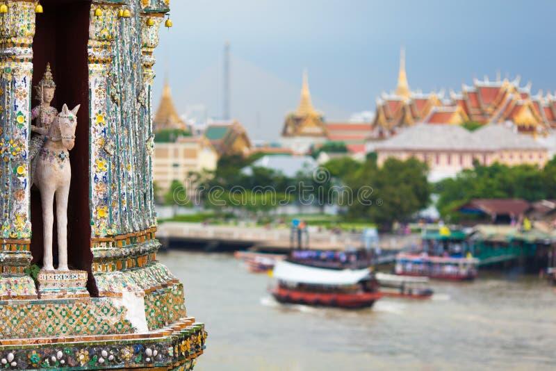 Bangkok river view. From the Wat Arun temple top, Thailand stock photos