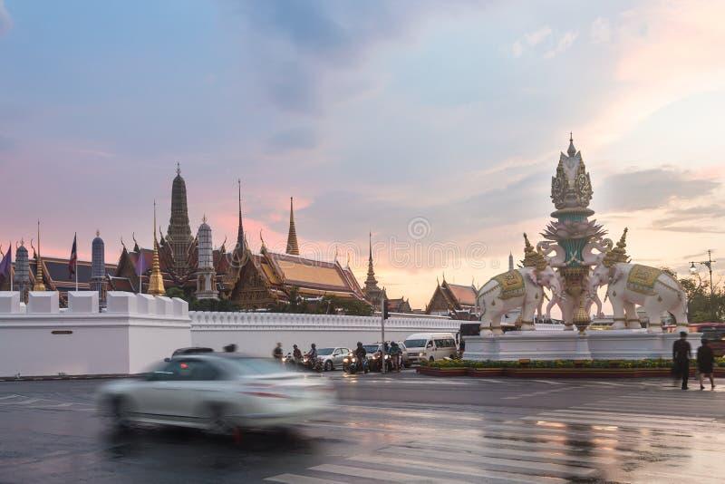 Bangkok Royal Palace en Wat Phra Kaew stock foto's