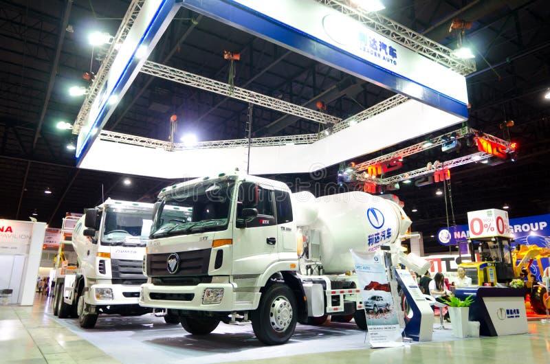 BANGKOK - September 21 : HUMAN TX-3334 Concrete Mixer Truck On D Editorial Photo