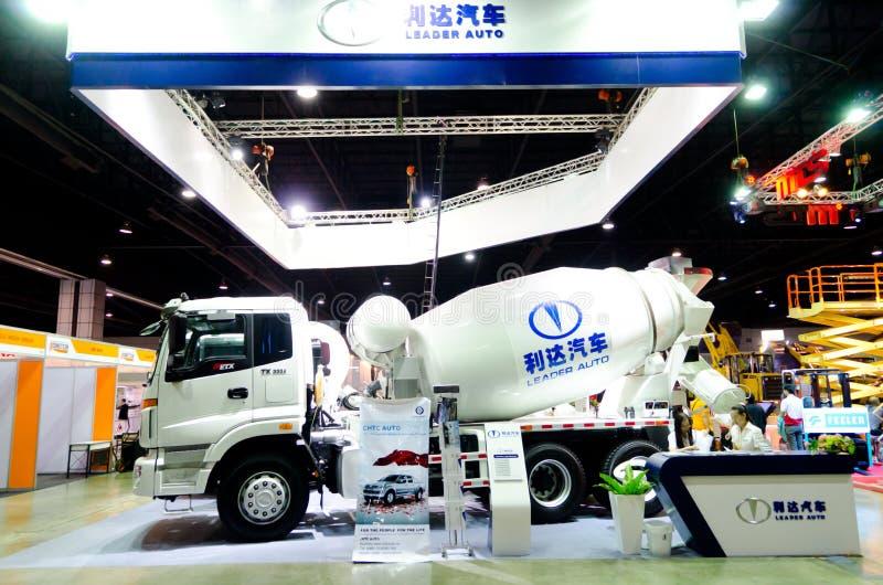 BANGKOK - September 21 : HUMAN TX-3334 Concrete Mixer Truck On D Editorial Image