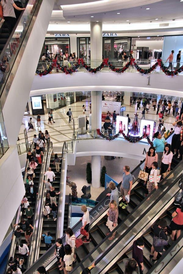 Bangkok shoppinggalleria arkivfoto