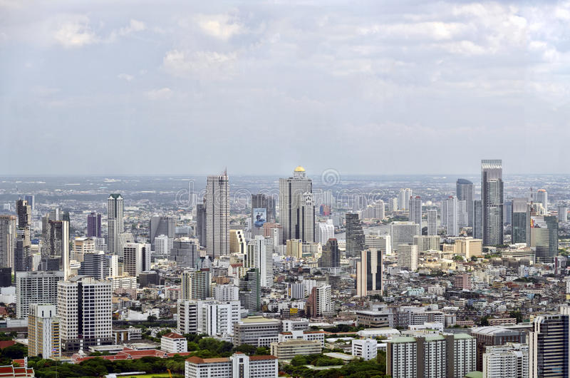 Bangkok sikt från Baiyoke torn II royaltyfri bild
