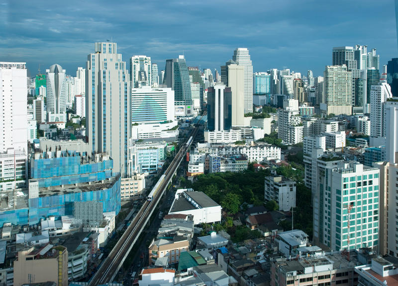 Bangkok-Skyline stockfoto