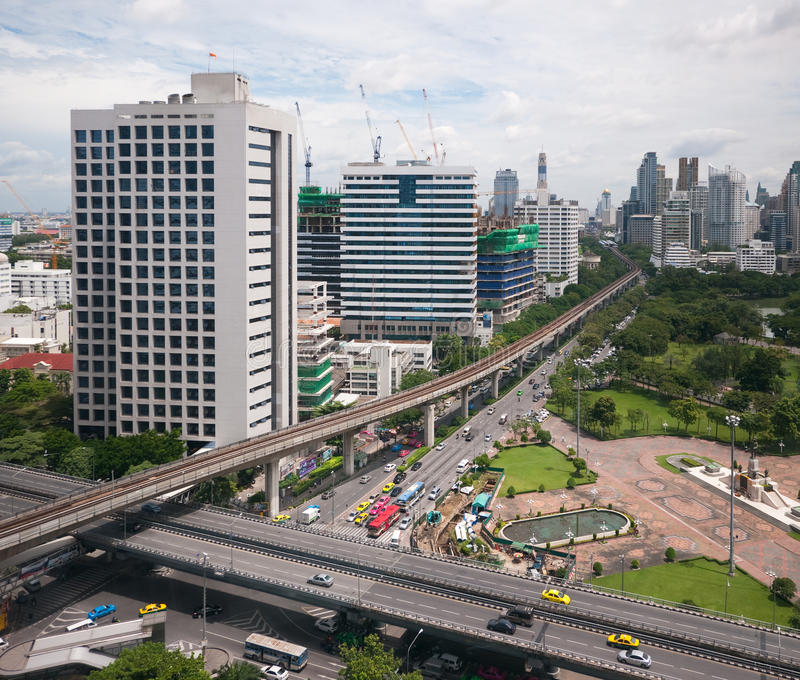 Download Bangkok skyline stock image. Image of cross, bangkok - 21705125