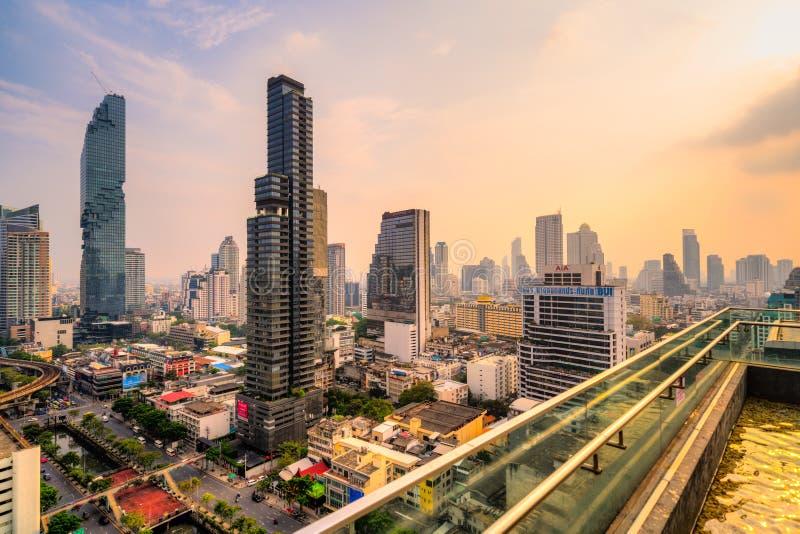 Bangkok skyline, Tajlandia zdjęcia royalty free