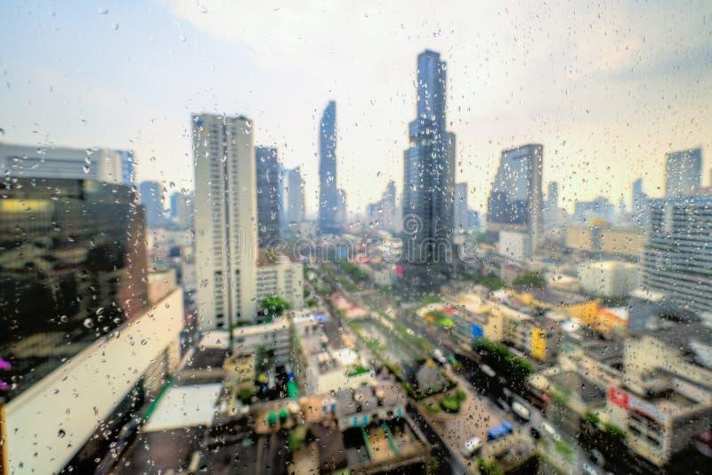 Bangkok skyline, Thailand royalty-vrije stock afbeelding