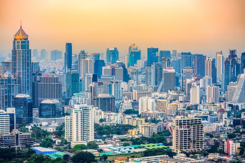 Bangkok skyline, Thailand royalty-vrije stock foto's