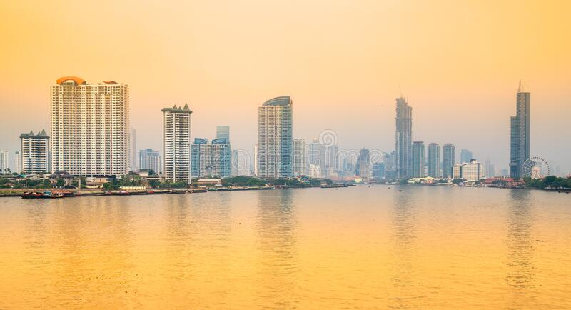 Bangkok skyline, Thailand royalty-vrije stock foto