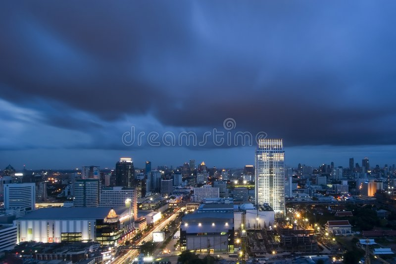 Bangkok skymning