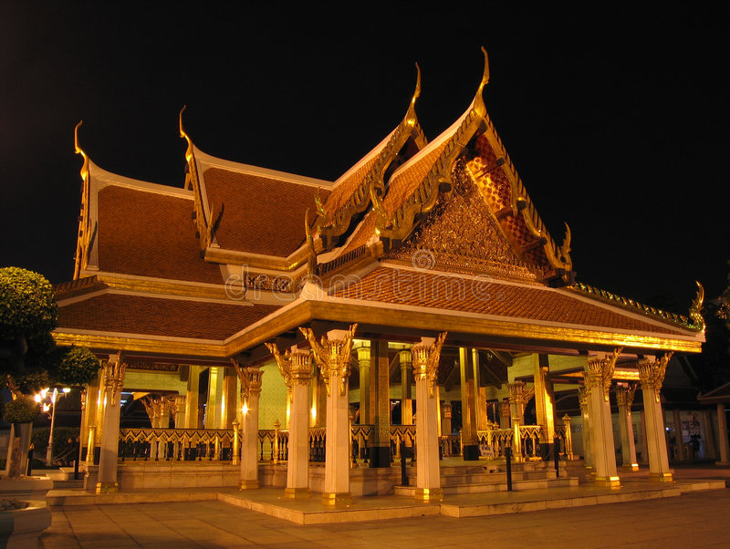 bangkok slott arkivfoto
