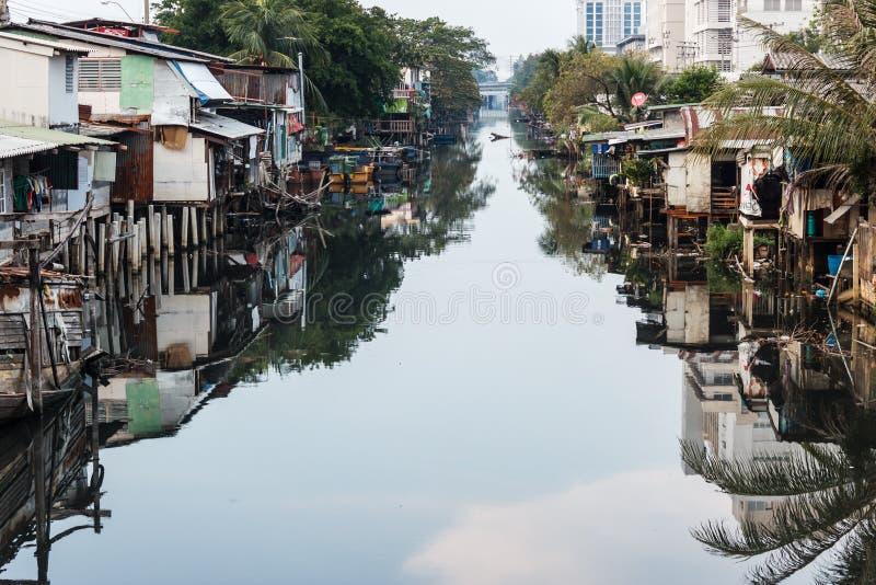 Download Bangkok slum stock image. Image of building, canal, architecture - 24783769