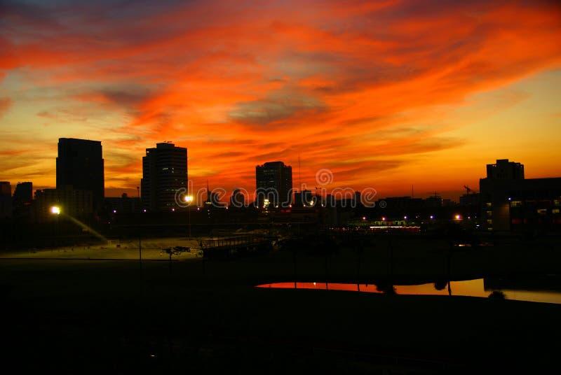 bangkok solnedgång arkivbilder