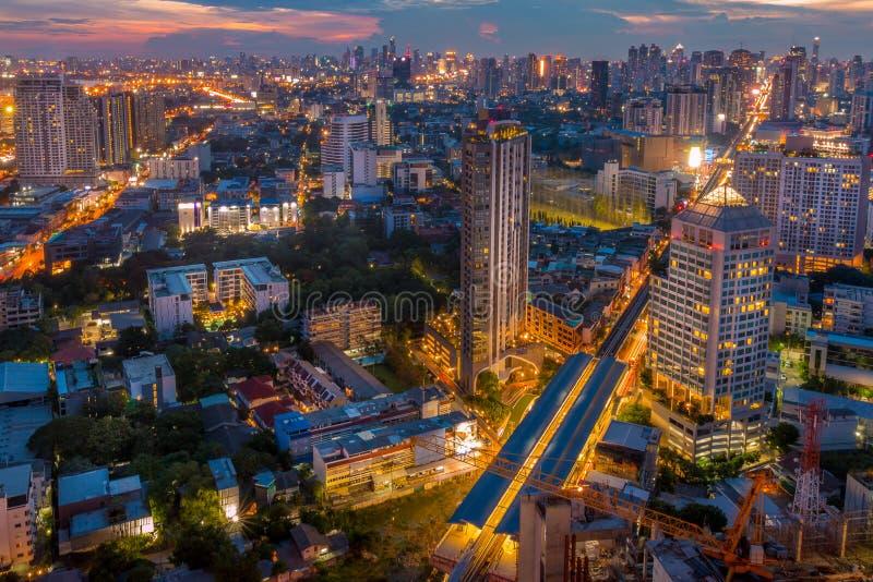 Bangkok-Sonnenuntergang stockbilder