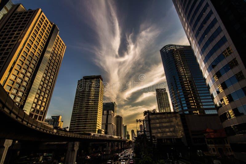 bangkok stadsscape royaltyfria foton