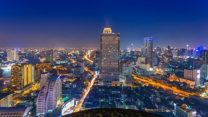 Bangkok stadssikt från över, Thailand royaltyfri bild