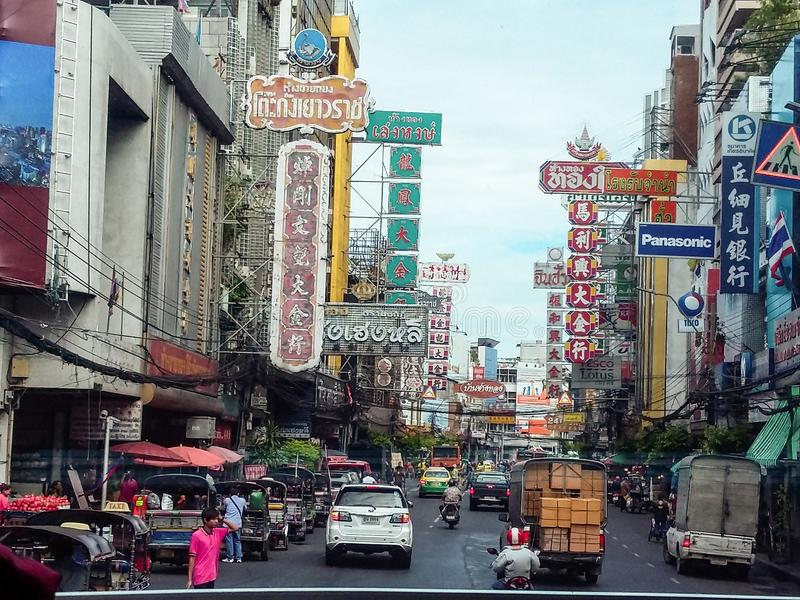 Bangkok stadstrafik royaltyfri foto