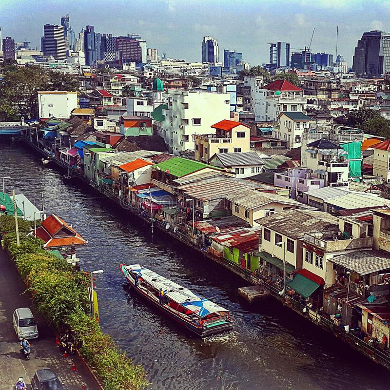 Bangkok-Stadt Thailand stockfotos