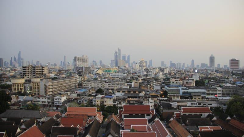 Bangkok-Stadtansicht Smog bedeckte Bangkok lizenzfreies stockfoto