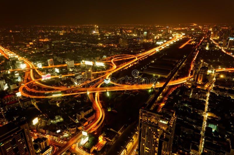 Bangkok, stolica Tajlandia od wysokiego kąta widoku fotografia stock