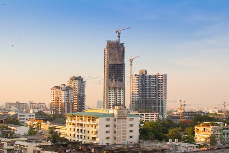 Bangkok sunset scene royalty free stock photos