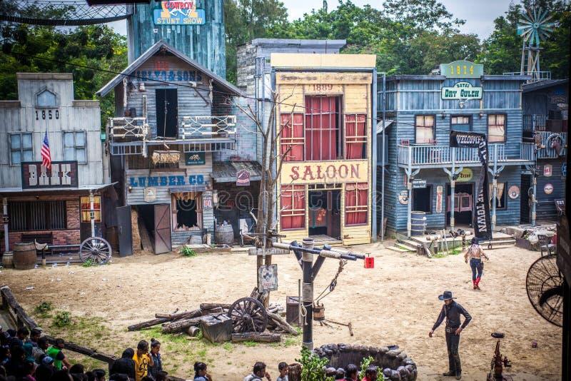 BANGKOK, TAILANDIA 5 agosto 2014, cowboy ad ovest selvaggio fotografie stock