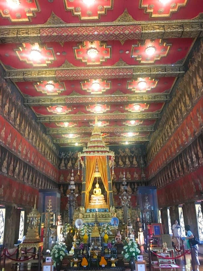 BANGKOK TAILANDIA 12,2018 augusti Phra Phuttha Sihing, situato in Phra Thinang Phutthaisawan al museo nazionale di Bangkok immagine stock libera da diritti