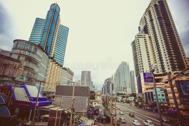 Bangkok, Tailandia 3 de agosto de 2014 Tráfico a lo largo de a fotos de archivo libres de regalías