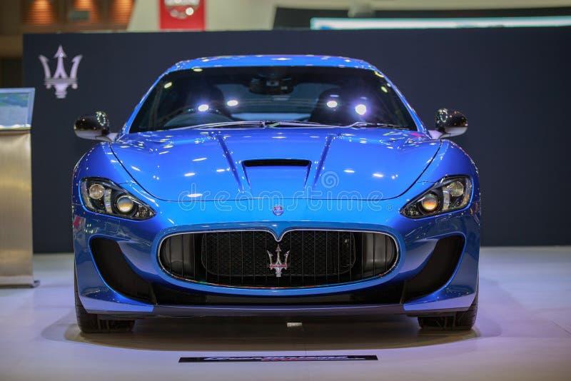 BANGKOK TAILANDIA 1 DE DICIEMBRE: Coches de Maserati en Tailandia Internat imágenes de archivo libres de regalías