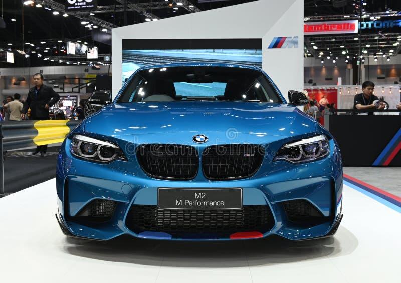Bangkok, Tailandia - 3 de diciembre de 2018: Cupé de BMW M2 M Performance presentado en la expo 2018 del motor de Bangkok imagen de archivo