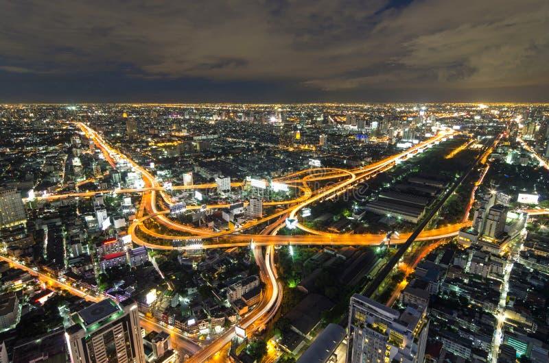 BANGKOK, TAILANDIA - 13 DE JULIO: Vista superior del edificio Bai-Yok2 que imagen de archivo libre de regalías