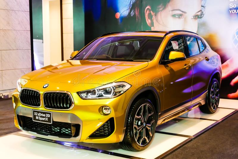 BANGKOK, TAILANDIA - 8 DE JUNIO DE 2018: BMW X2 sDrive20i M Sport tiene b imágenes de archivo libres de regalías