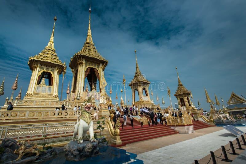Bangkok, Tailandia - 1 de noviembre de 2017: El crematorio real del rey foto de archivo